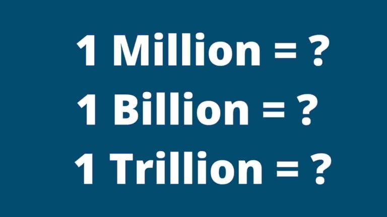 Read more about the article Million and Billion Meaning in Hindi | Million, Billion and Trillion Meaning In Hindi